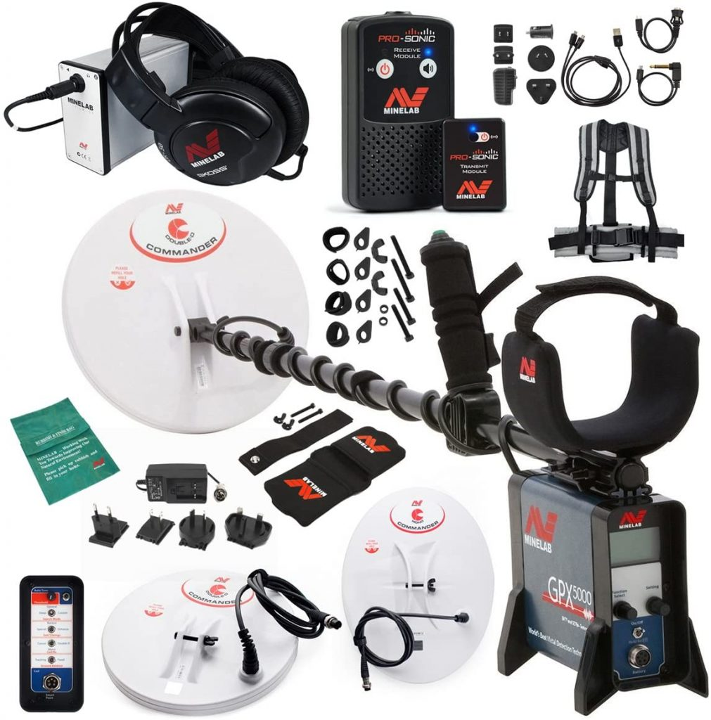 Minelab GPX 5000 has Armrest Strap, Armrest Wear Kit, Coil Wear Kit, Bungie Cord with Clamp, Detailed Instruction Manual ability with 3 years warranty.