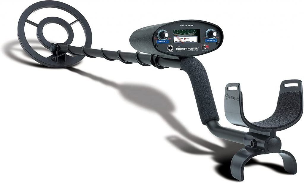 Bounty Hunter TK4 Tracker IV Metal Detector is a best beginner metal detector with Motion All-Metal mode,Discrimination mode, 6.7 kHz operating frequency and many other features with low price.
