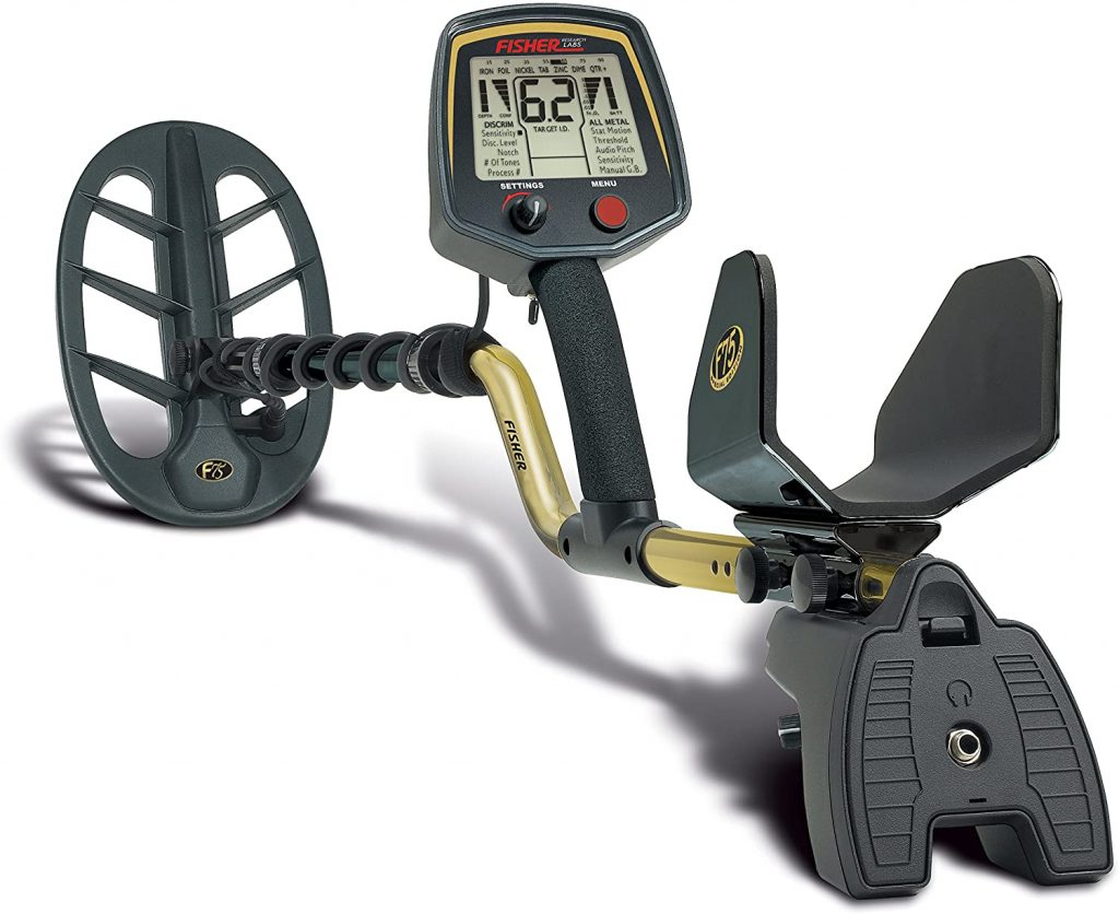 Fisher F75 metal detector has powerful performance trigger, 4-aa alkaline batteries, double-d waterproof search coil and many other features also with a low cost.