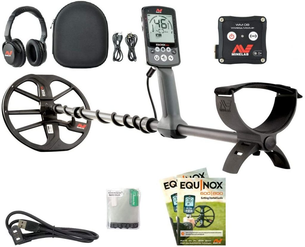 Minelab 3720 0002 Equinox 800 Metal Detector Black has custom search profiles facility, gold detecting mode, waterproof design with many other features.