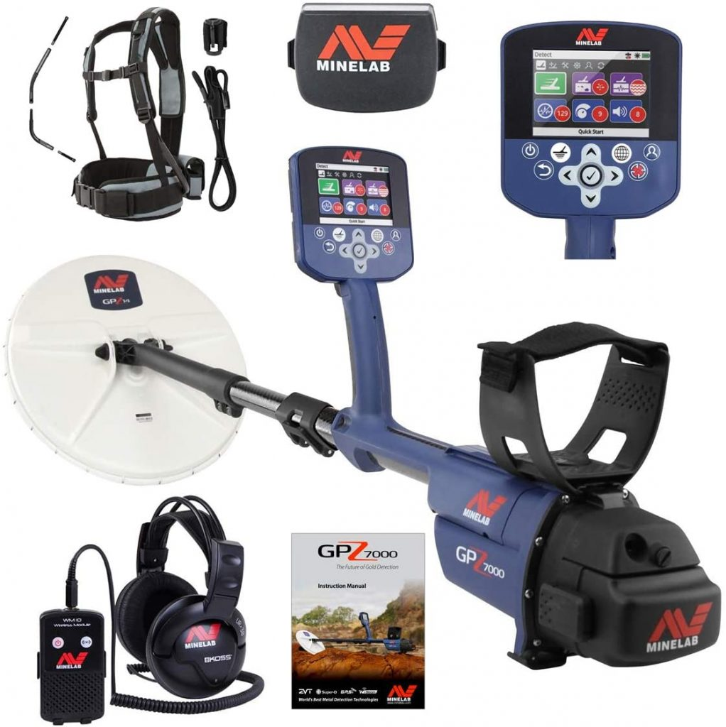 Minelab GPZ 7000 Gold Nugget Metal Detector has GPZ 7000 Technologies,waterproof coil to 1m/3ft, with a low price.
