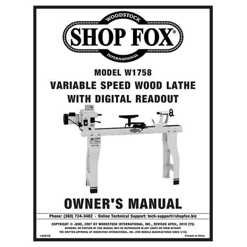 Shop fox lathe is the perfect one if you are wondering which one to buy. This shop fox w1758 wood lathe review will come in very handy .